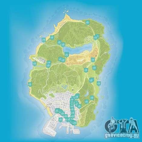 Карта полетов под мостом в Grand Theft Auto 5