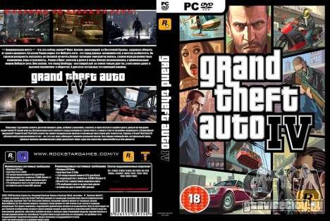 Обложка русского издания Grand Theft Auto 4