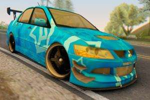 Mitsubishi Lancer Evolution IIIX Blue Star для GTA San Andreas