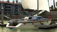 Dinka Marquis из GTA 5 - вид сзади