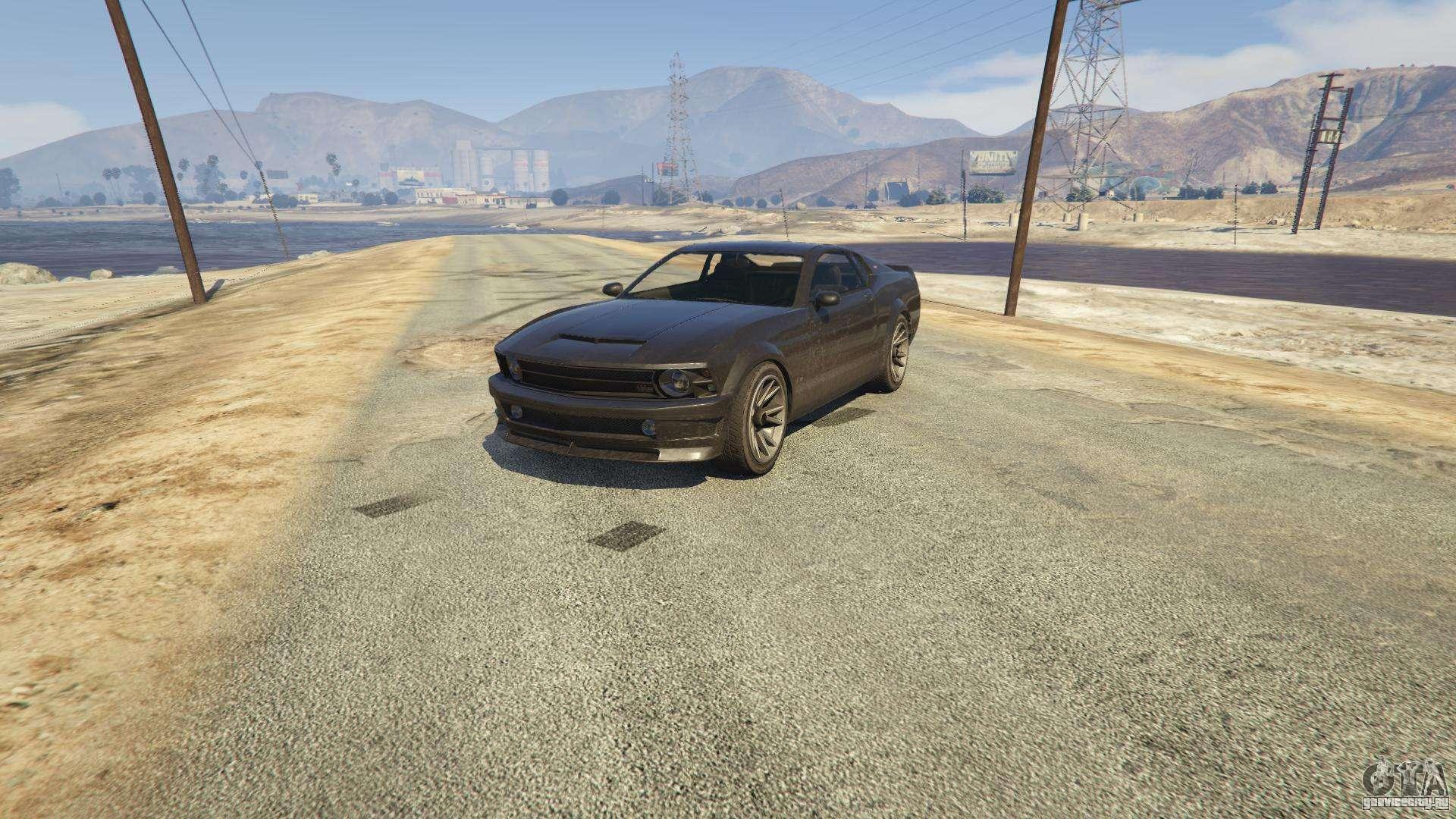 Dominator из GTA 5 - вид спереди
