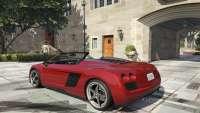 Obey 9F Cabrio из GTA 5 - вид сзади