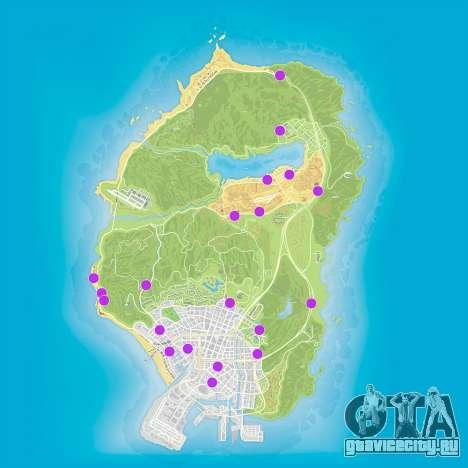 Карта магазинов GTA 5