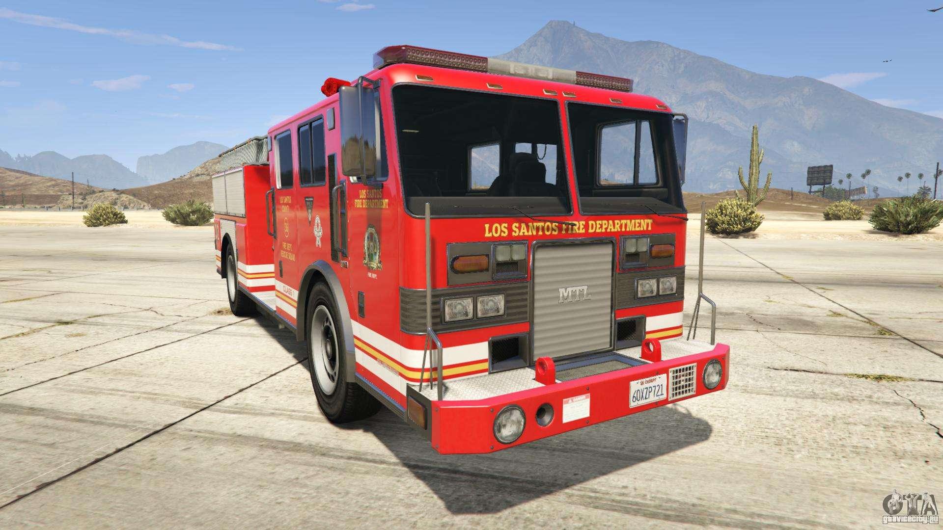 GTA 5 MTL Fire Truck - вид спереди