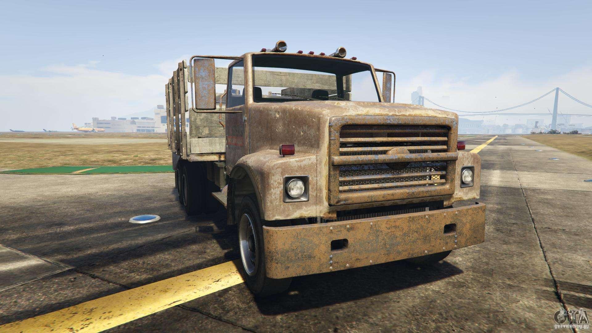 GTA 5 Vapid Scrap Truck - вид спереди