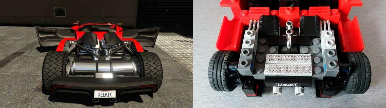 Lego Grotti Turismo R - двигатель