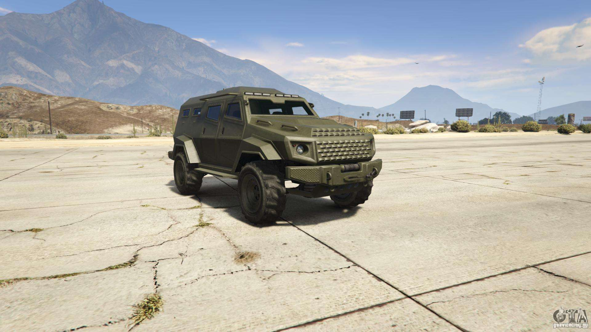 GTA 5 HVY Insurgent - вид спереди