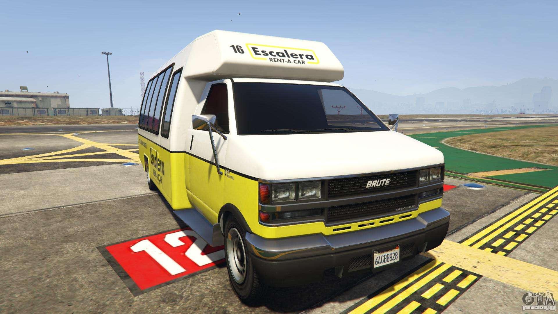 GTA 5 Brute Rental Shuttle Bus - вид спереди