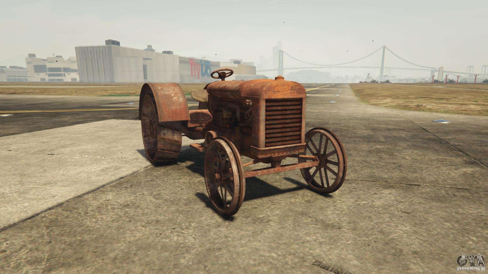 GTA 5 Stanley Tractor - вид спереди