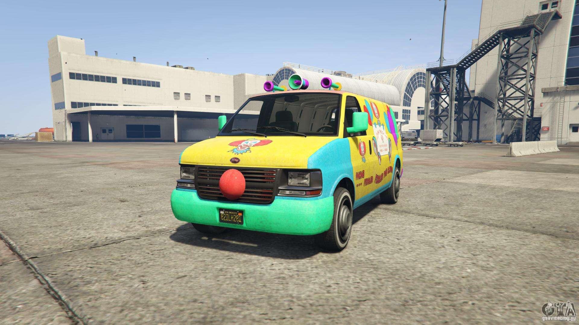GTA 5 Vapid Clown Van - вид спереди