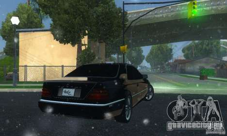 Mercedes-Benz 600SEC для GTA San Andreas вид сзади слева