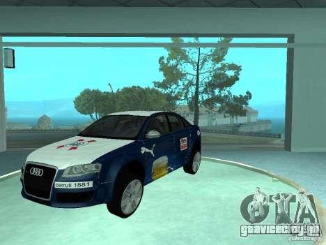 Audi RS4 для GTA San Andreas вид изнутри