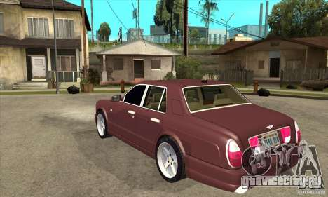 Bentley Arnage GT для GTA San Andreas вид сзади слева