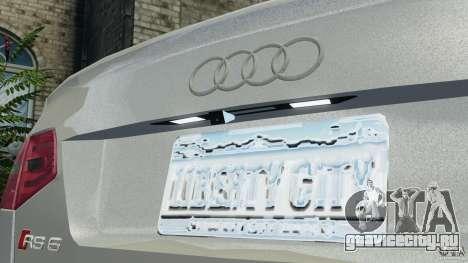 Audi RS6 2010 v1.1 для GTA 4 вид сверху