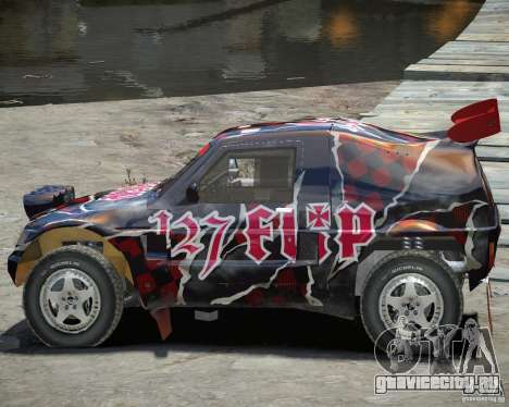 Mitsubishi Pajero Proto Dakar Винил 3 для GTA 4 вид изнутри