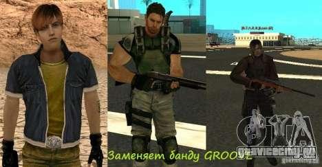 Пак персонажей из Resident Evil для GTA San Andreas седьмой скриншот