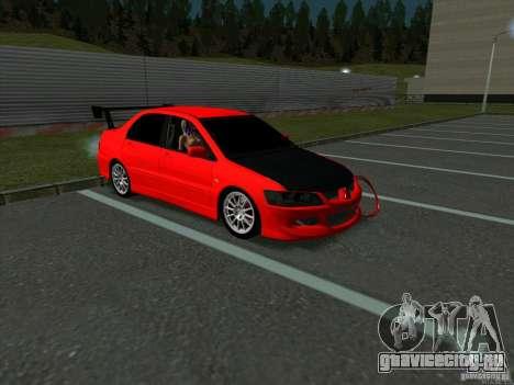 Mitsubishi Lancer Drift для GTA San Andreas вид слева