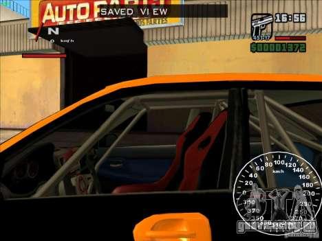 Subaru Impreza WRX Sti 2006 Elemental Attack для GTA San Andreas вид изнутри