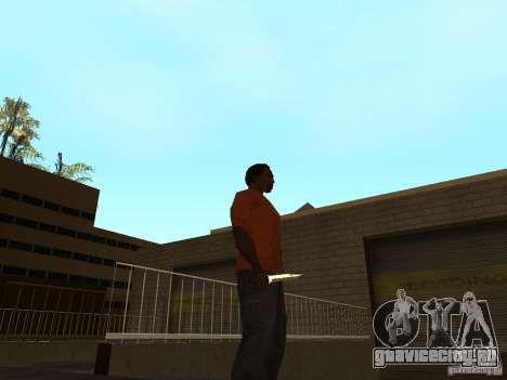 Knife Chrome для GTA San Andreas второй скриншот