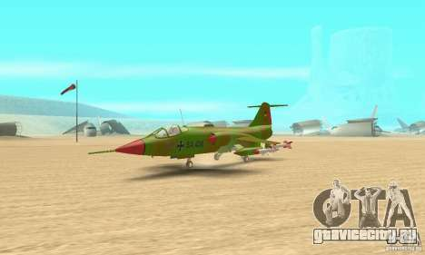 F-104 Super Starfighter(зелёного цвета) для GTA San Andreas