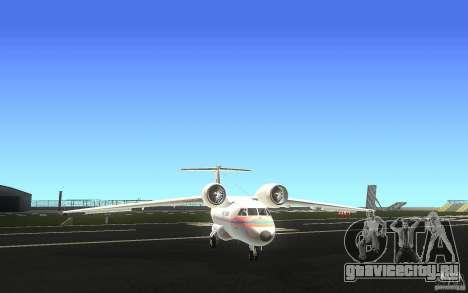 Antonov 74 для GTA San Andreas вид сзади