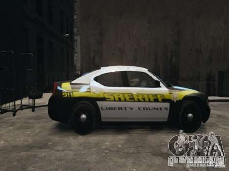 Dodge Charger Slicktop 2010 для GTA 4 вид слева