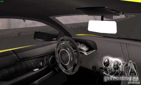 Lamborghini Murcielago LP640 для GTA San Andreas вид сзади