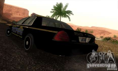 Ford Crown Victoria Alaska Police для GTA San Andreas вид слева
