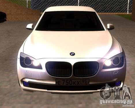 BMW 750Li 2010 для GTA San Andreas вид сзади