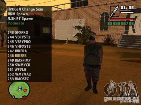 GTA IV peds to SA pack 100 peds для GTA San Andreas седьмой скриншот