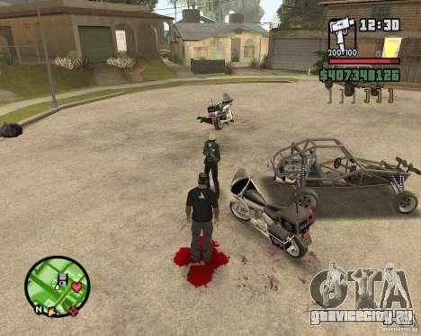 Sangue na tela v2 для GTA San Andreas