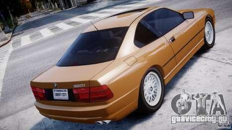 BMW 850i E31 1989-1994 для GTA 4 вид сзади слева