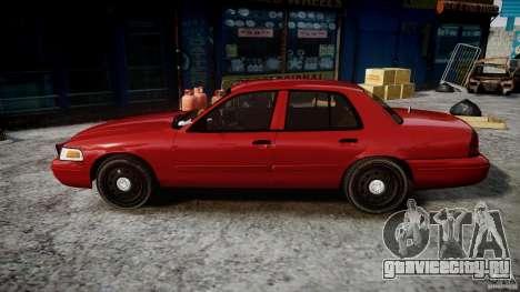 Ford Crown Victoria Detective v4.7 red lights для GTA 4 вид слева