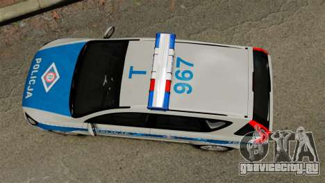 Kia Ceed 2011 SW Polish Police ELS для GTA 4 вид справа