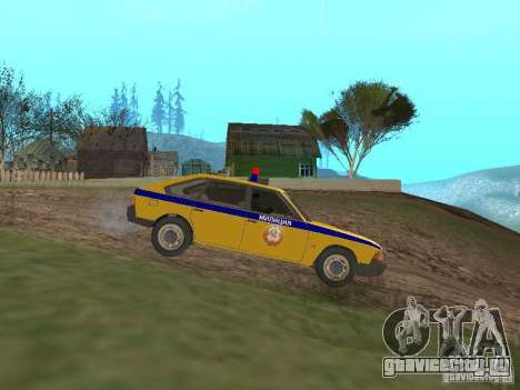 АЗЛК 2141 ГАИ для GTA San Andreas вид слева