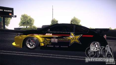 Scion TC Rockstar Team Drift для GTA San Andreas вид справа