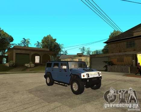 AMG H2 HUMMER для GTA San Andreas вид справа