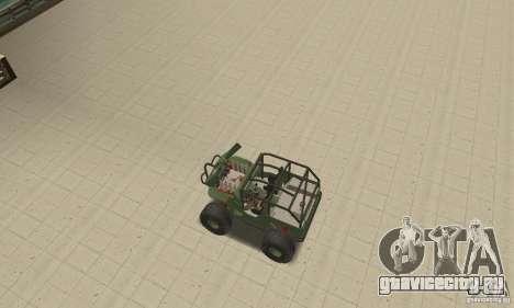 Jeep Willys Rock Crawler для GTA San Andreas вид сверху