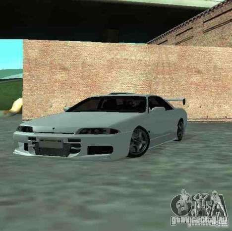 Nissan Skyline R32 GT-R для GTA San Andreas вид сбоку