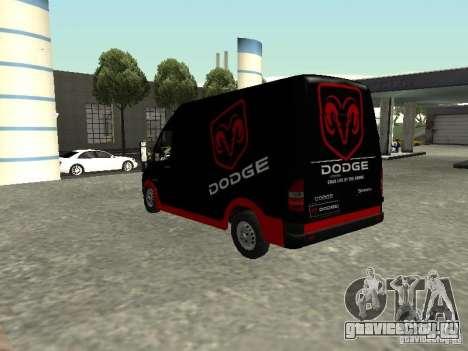Dodge Sprinter Van 2500 для GTA San Andreas вид слева