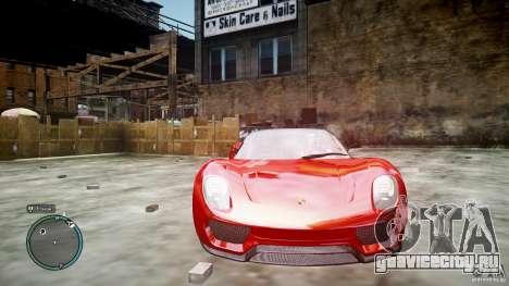 Porsche 918 Spyder Concept для GTA 4 вид изнутри