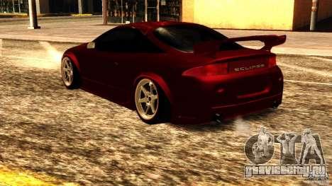 Mitsubishi Eclipse 1998 для GTA San Andreas вид сзади слева