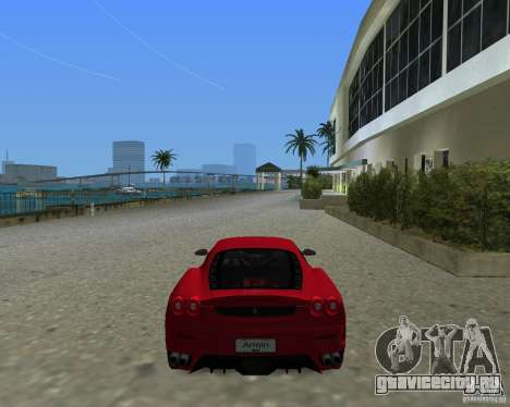Ferrari F430 для GTA Vice City вид слева