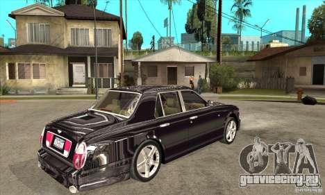 Bentley Arnage T для GTA San Andreas вид сзади