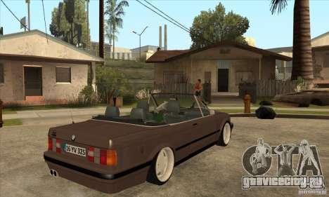 BMW E30 325i Cabrio 1989 для GTA San Andreas вид справа