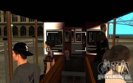 Enterable Tram v1.2 для GTA San Andreas вид слева