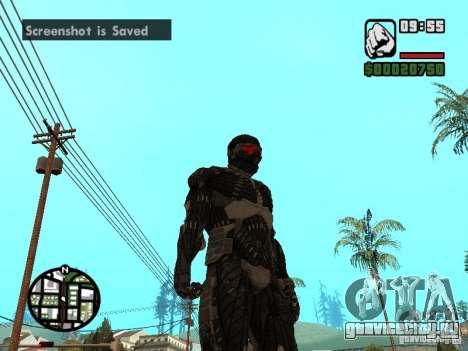 Crysis Nano Suit для GTA San Andreas третий скриншот