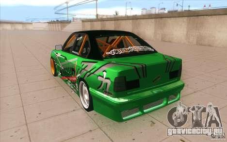 BMW E34 V8 Wide Body для GTA San Andreas вид сзади слева
