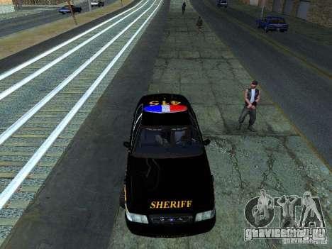 Ford Crown Victoria Erie County Sheriffs Office для GTA San Andreas вид слева