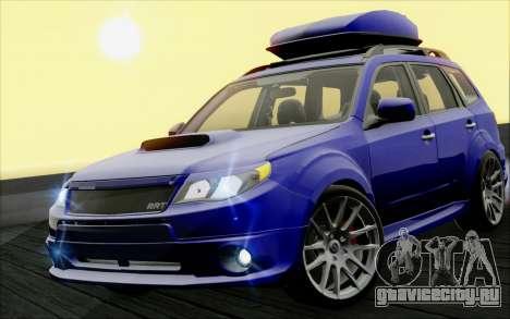Subaru Forester RRT sport 2008 для GTA San Andreas вид изнутри